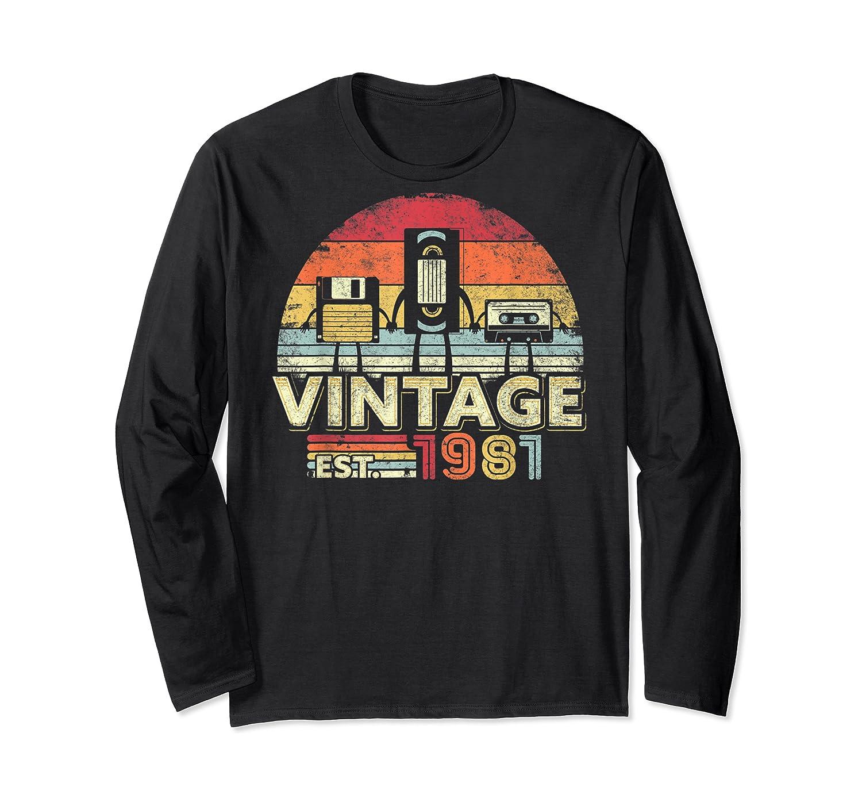 1981 Shirt. Vintage Birthday Gift, Funny Music, Tech Humor T-shirt Long Sleeve T-shirt
