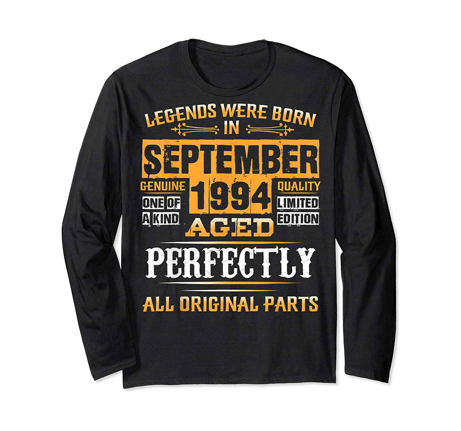 Vintage September 1994 Birthday Gift For 25 Yrs Old D1 Shirts Long Sleeve T-shirt