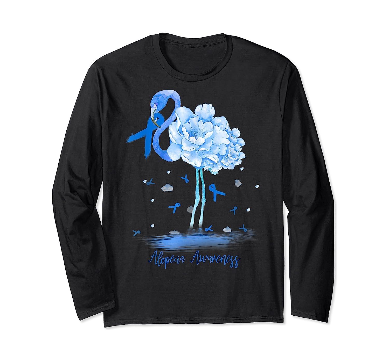 Awareness Flamingo Bule Ribbon Shirts Long Sleeve T-shirt