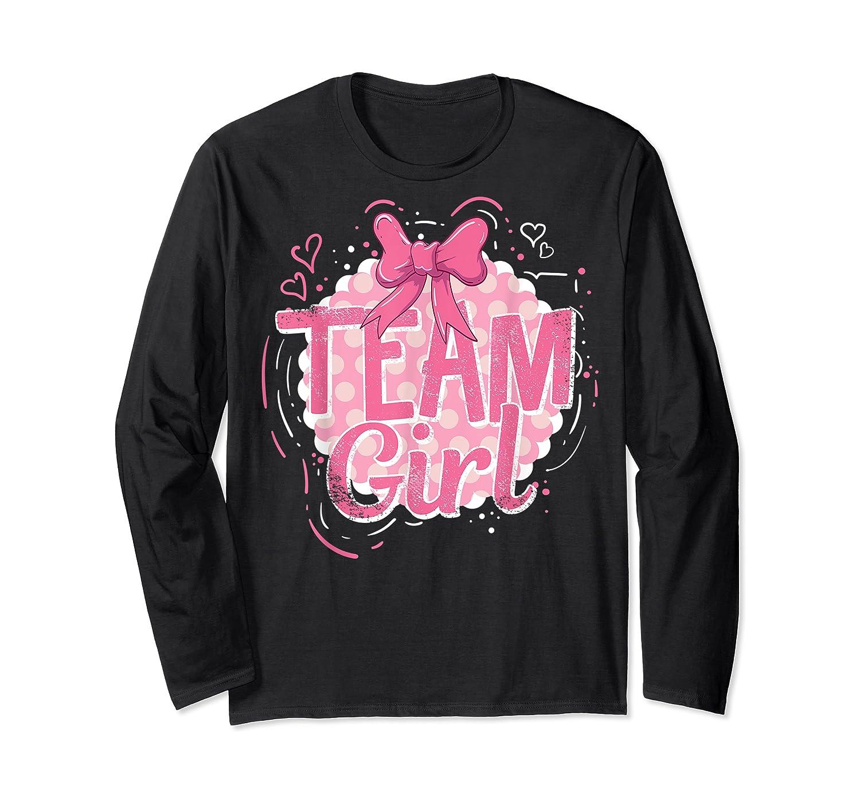 Team Girl Gender Reveal Party Pregancy T-shirt Long Sleeve T-shirt