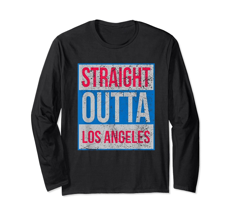 Straight Outta Los Angeles Basketball Shirts Long Sleeve T-shirt