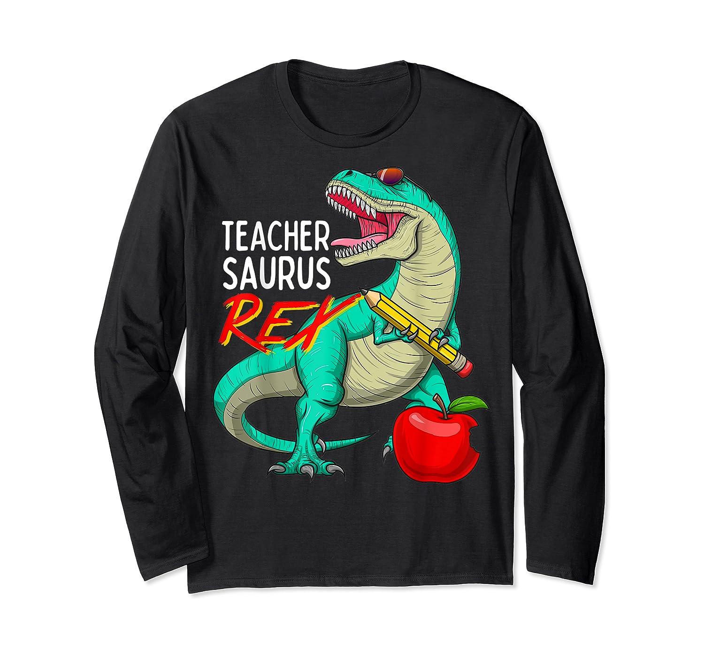 Teasaurus Rex - Funny Dinosaur Tea Appreciation Gift T-shirt Long Sleeve T-shirt