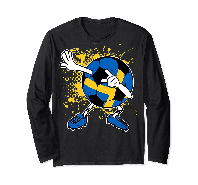 Dabbing Sweden Soccer Tshirt For Football Tee Long Sleeve T-shirt
