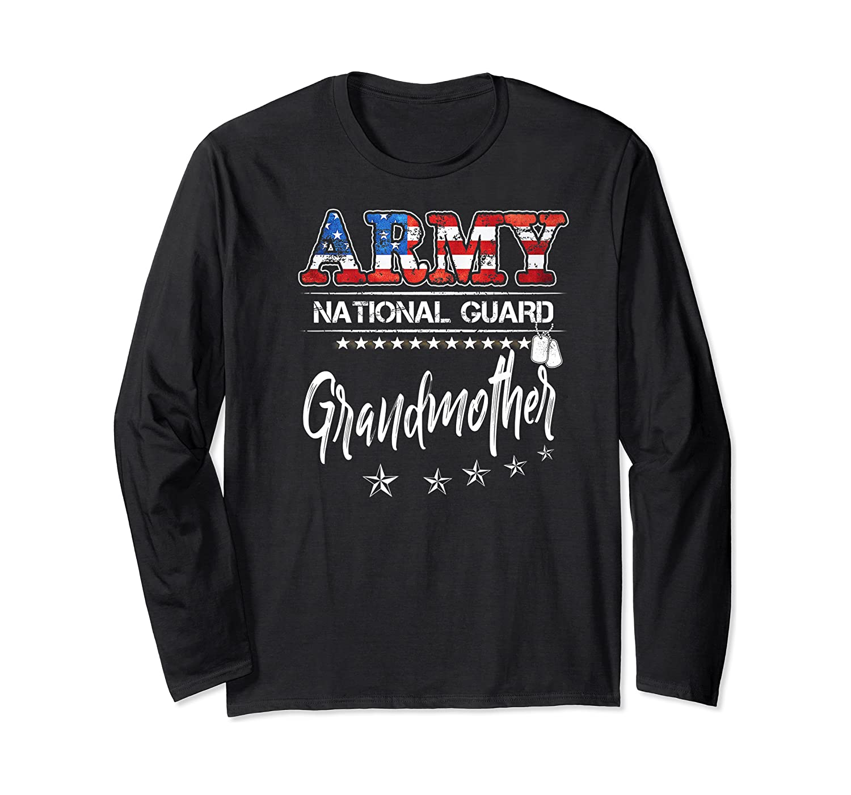 Army National Guard Grandmother Of Hero Military Family Shirts Long Sleeve T-shirt