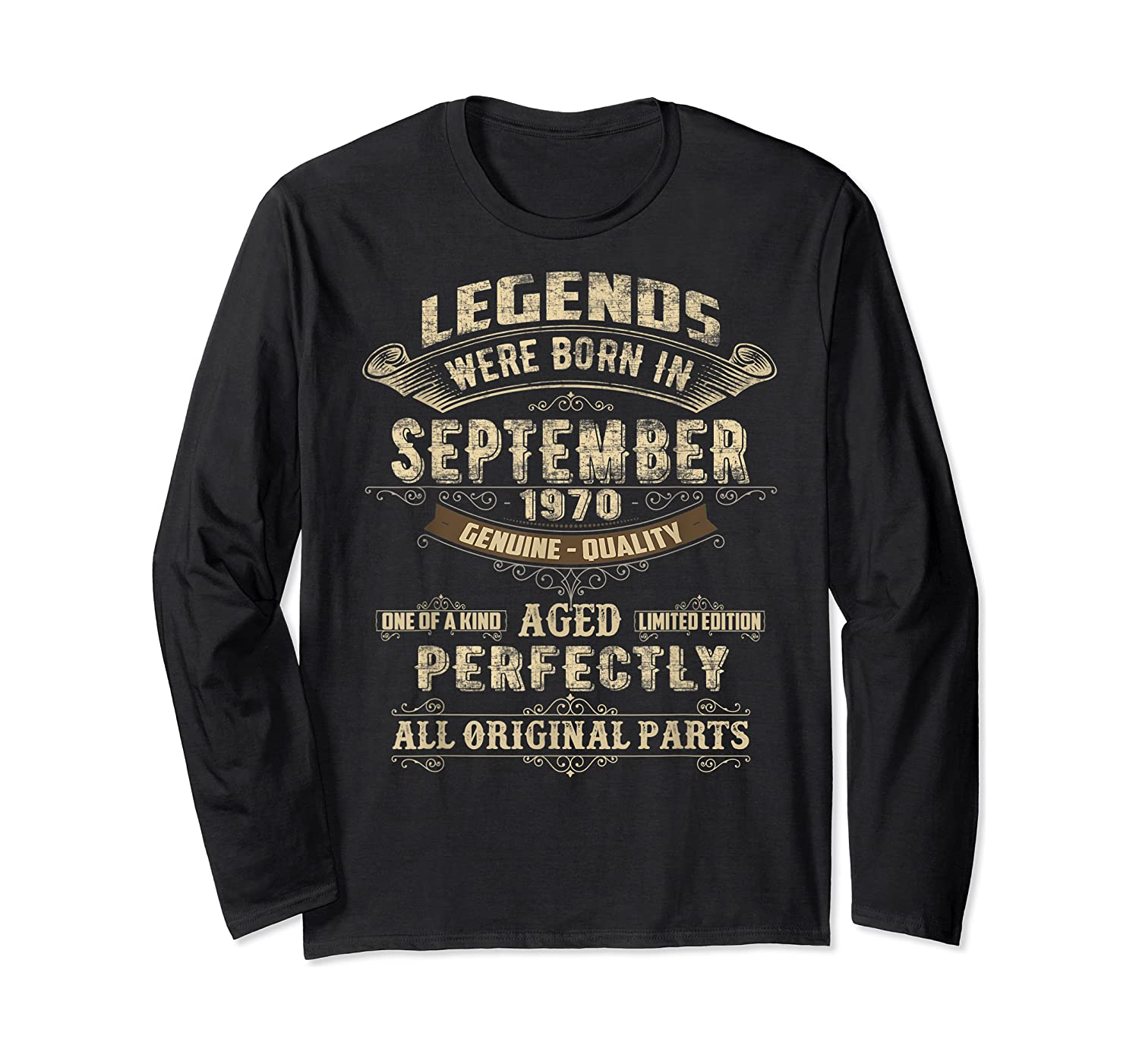 Legends Were Born In September 1970 50th Birthday Gifts Shirts Long Sleeve T-shirt
