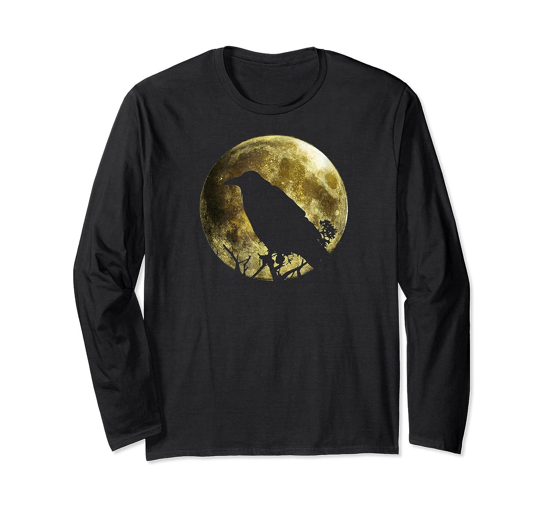 Raven Full Moon Halloween Shirts Long Sleeve T-shirt