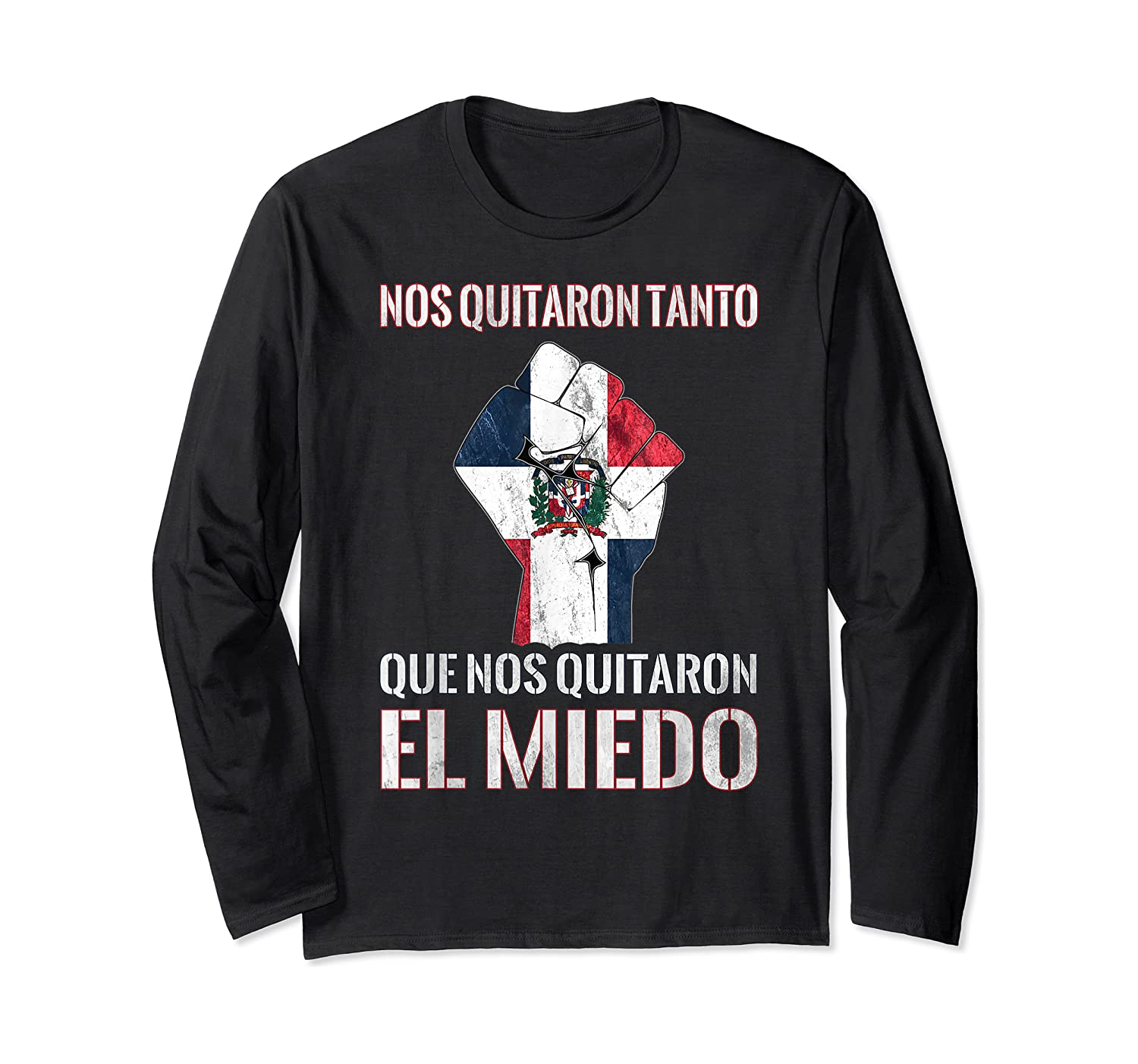 Dominican Republic Flag Fist Dominican Election 2020 Protest T-shirt Long Sleeve T-shirt