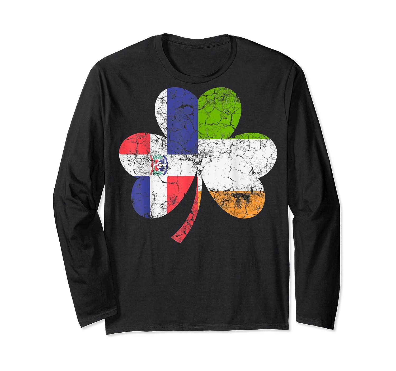 Irish Dominican Flag Ireland Shamrock St Patricks Day Shirts Long Sleeve T-shirt