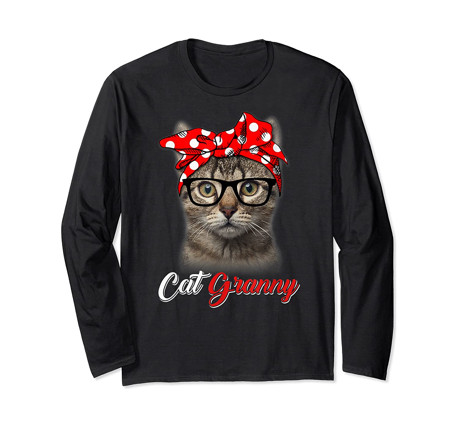 Funny Cat Granny Shirt For Cat Lovers-mothers Day Gift Long Sleeve T-shirt