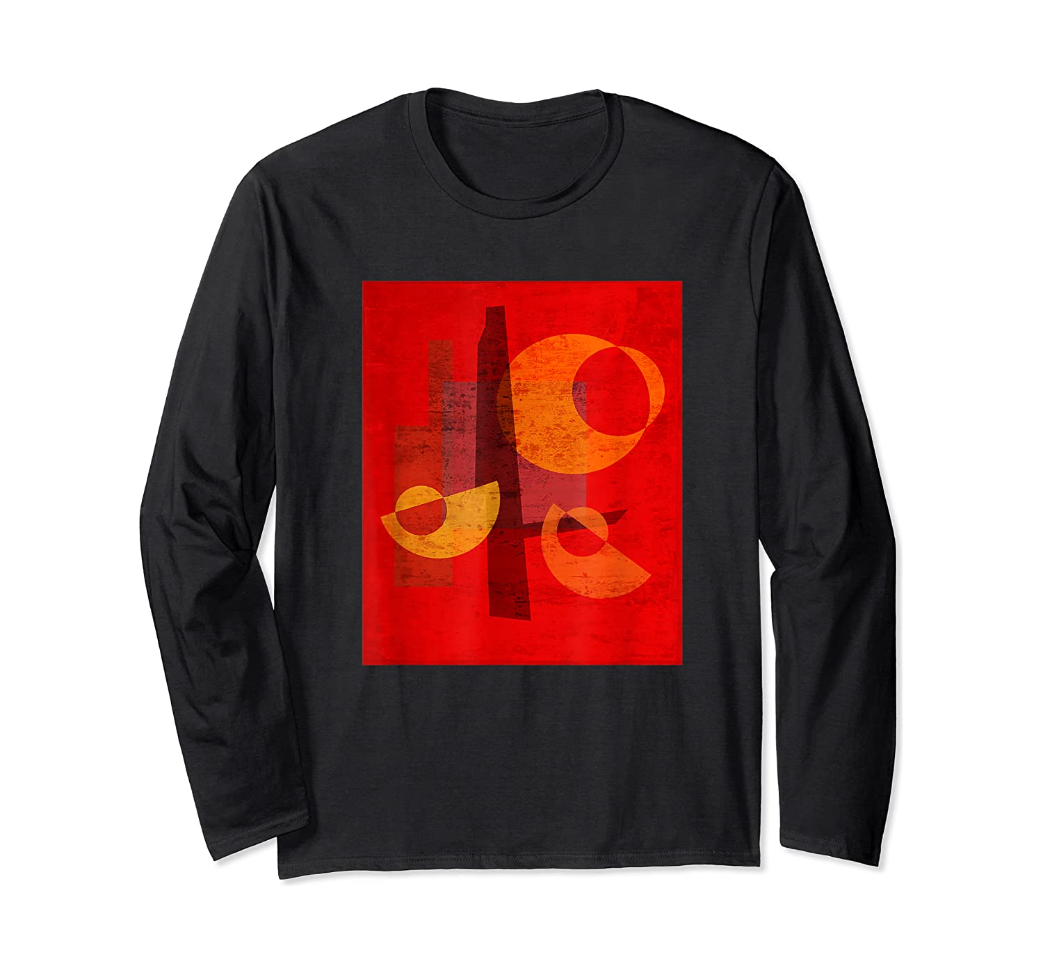 Red And Orange Abstract Shapes Shirts Long Sleeve T-shirt