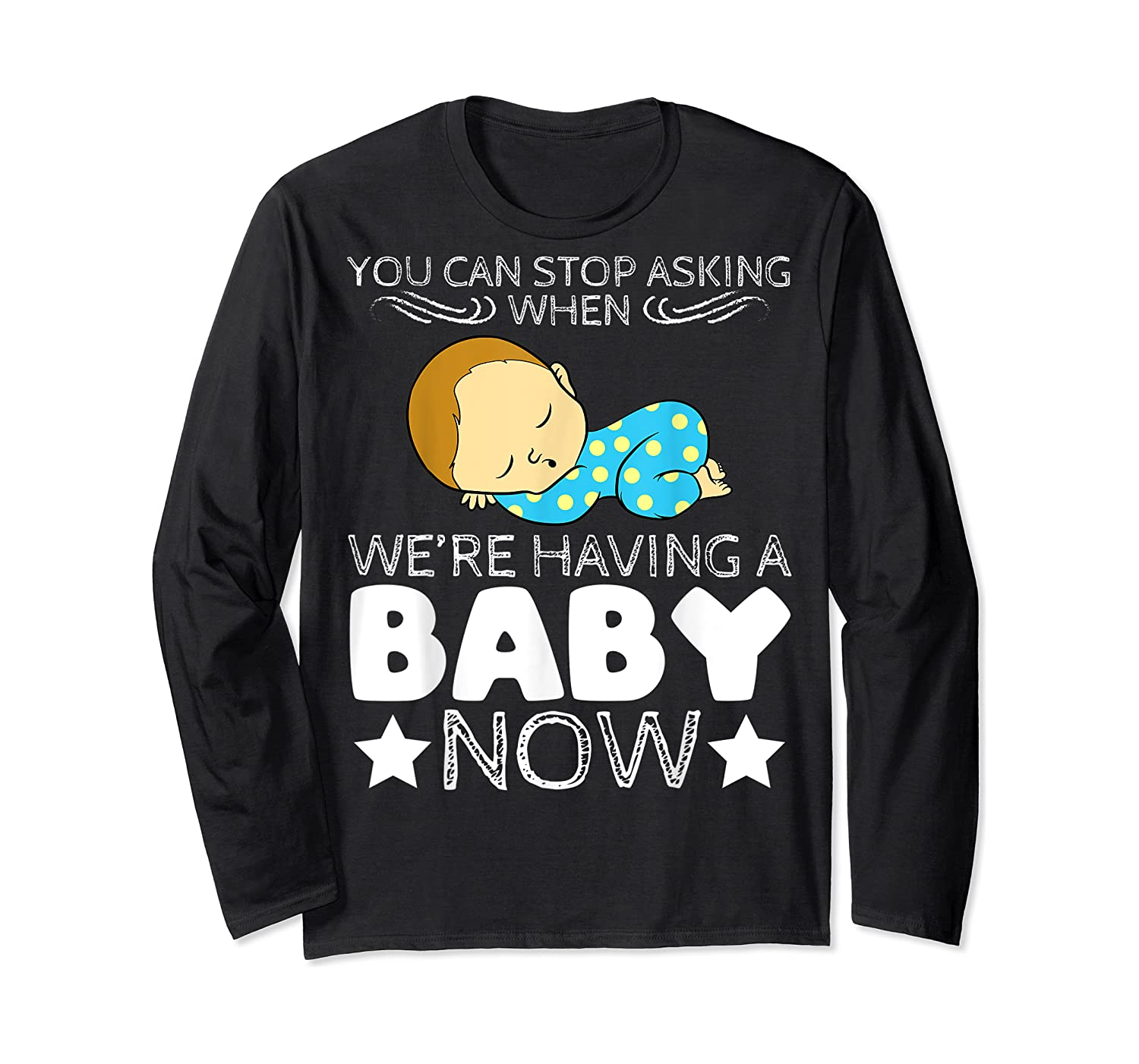 Baby Family Pregnant Mother Daughter Son Design Having Baby Shirts Long Sleeve T-shirt