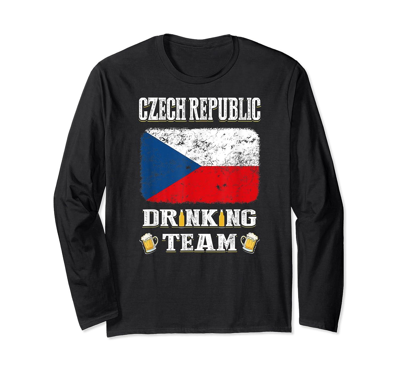 Czech Republic Drinking Team Funny Beer T Shirt Long Sleeve T-shirt