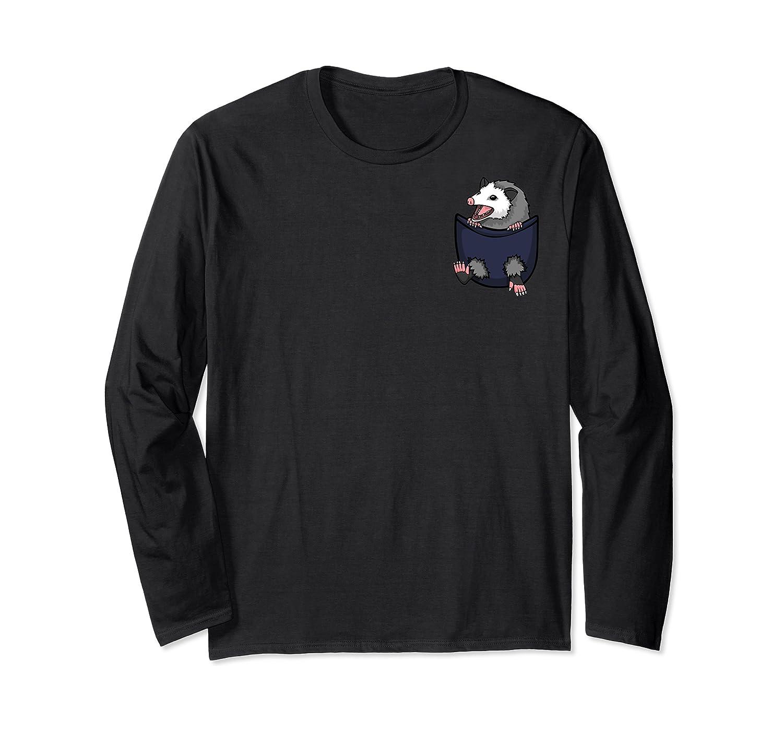 Cute Opossum Pocket Lovers Cute Possum Gift Possum Rehab Shirts Long Sleeve T-shirt