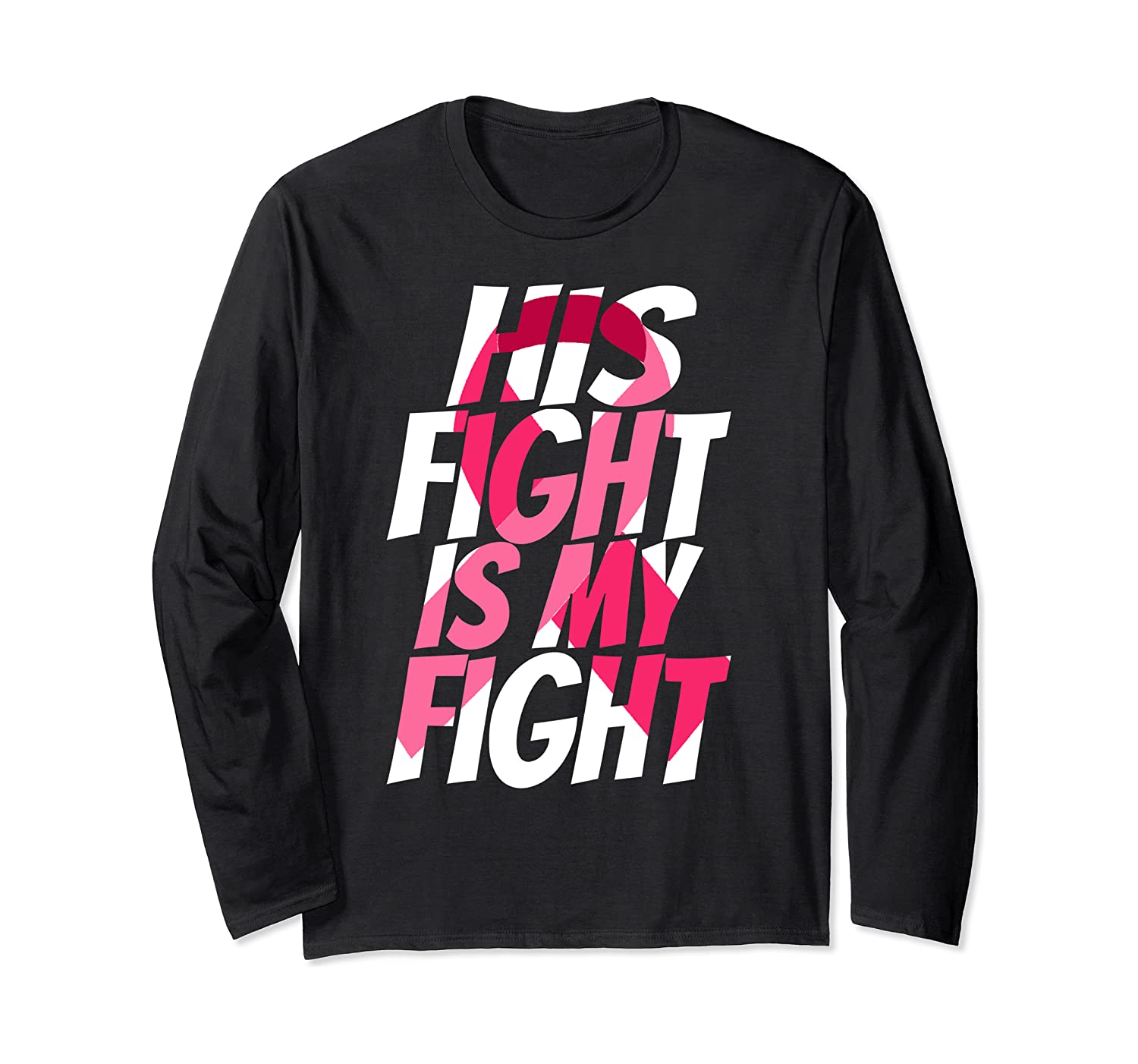 Hot Pink Ribbon For Him Products Cleft Palate Awareness Long Sleeve T-shirt