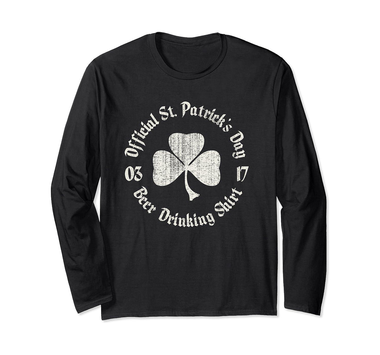 St Patrick's Beer Drinking Official Vintage Long Sleeve T-Shirt-Awarplus
