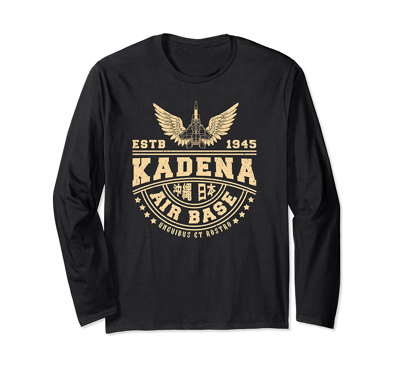 Kadena Air Base Usaf Okinawa Japan Long Sleeve T-shirt