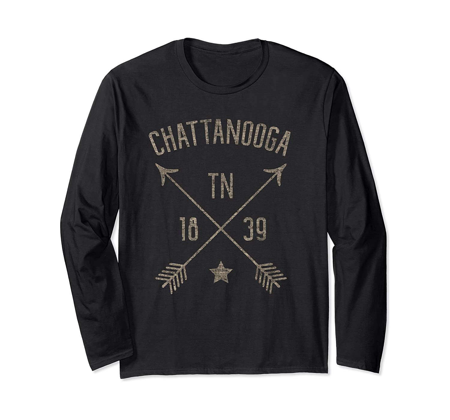 Chattanooga Tennessee Distressed Boho Style Home City Long Sleeve T-Shirt