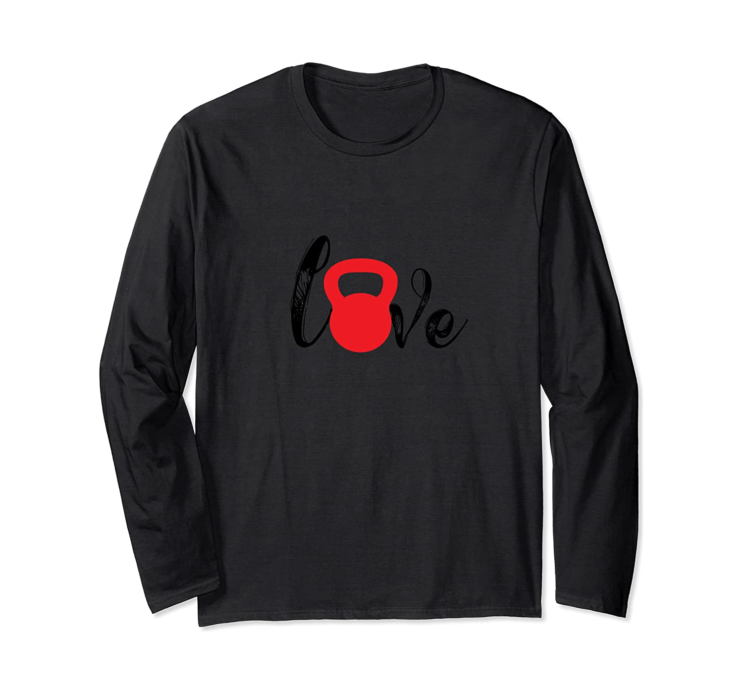 I Love Kettlebell Vintage Home GYM Fitness Exercise Workout Long Sleeve T-Shirt-Awarplus