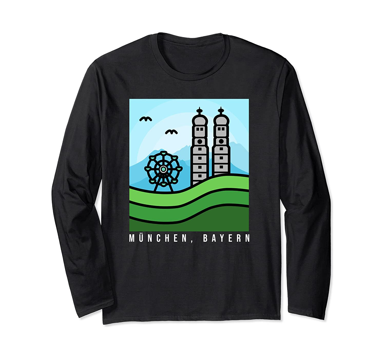 MUNCHEN, BAYERN - Munich Bavaria Germany Vintage Design Long Sleeve T-Shirt