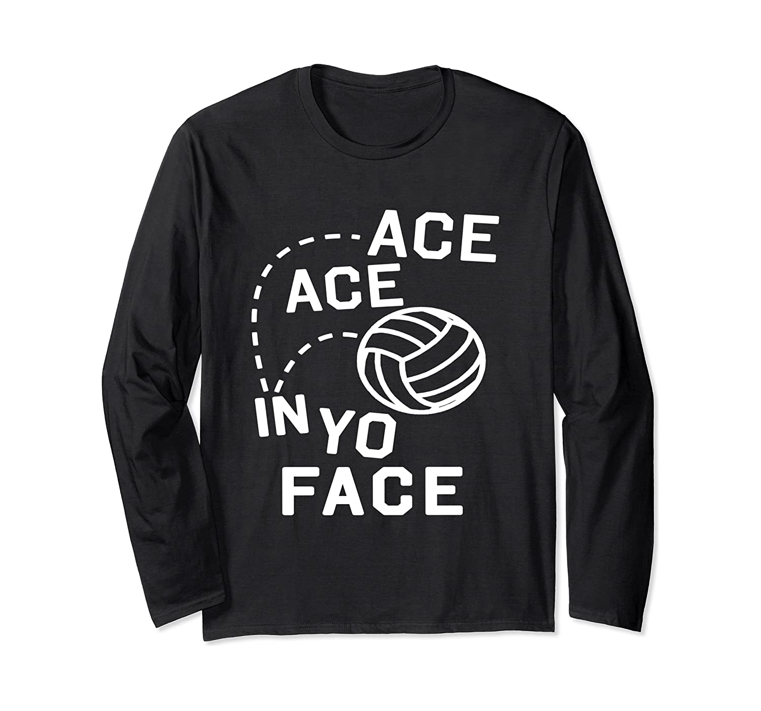 Funny Volleyball Long Sleeve Shirt For Teens - ACE FACE