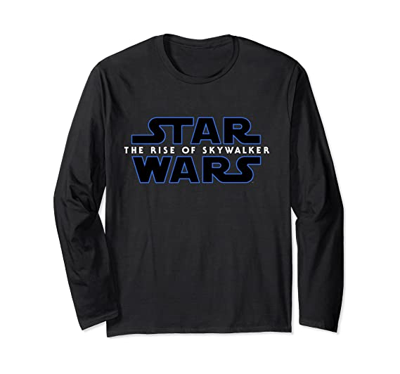 Amazon Com Star Wars The Rise Of Skywalker Logo Long Sleeve T Shirt Clothing