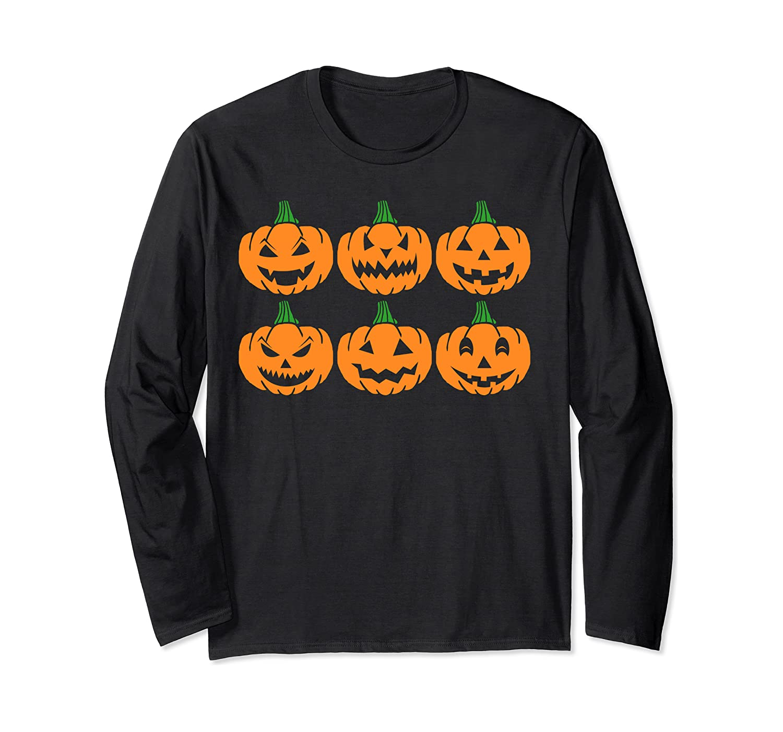 Halloween Pumpkin Trick or Treat Funny Costume Gift Long Sleeve T-Shirt