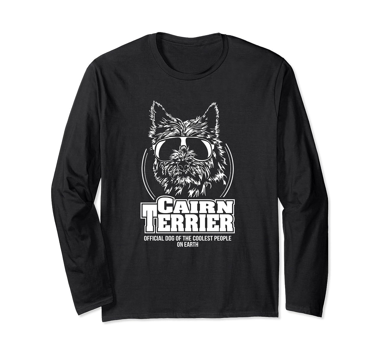 Lustiger Cairn Terrier coolest people Hund Hundespruch Langarmshirt
