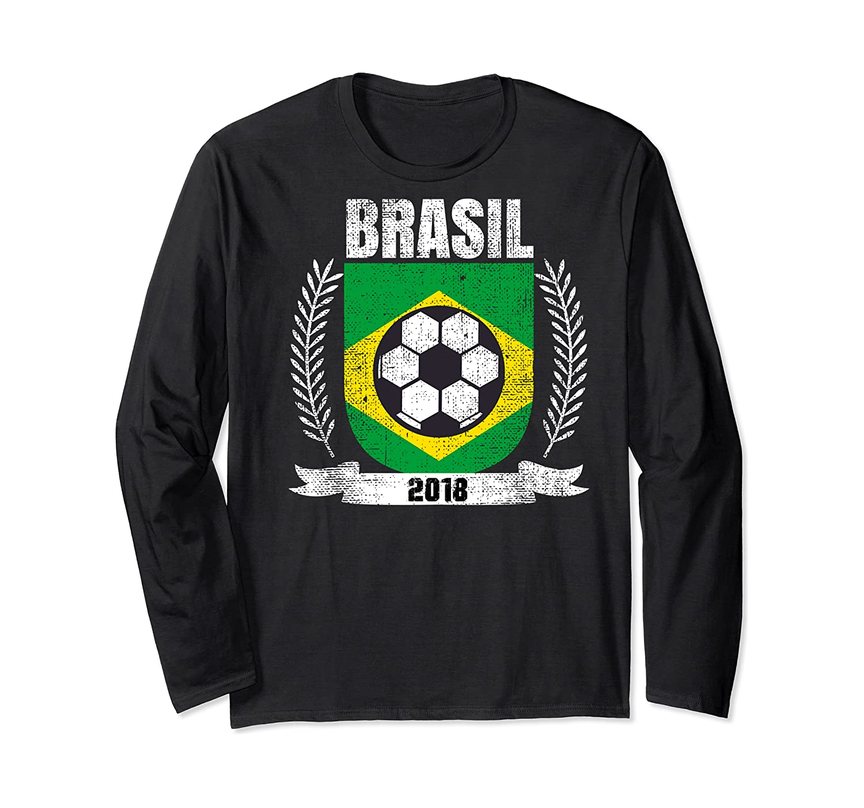 Brazilian 2018 Football Brazil Soccer Fan T-shirt Long Sleeve T-shirt