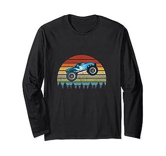 Amazon Com Vintage Monster Truck Retro Sun Sunset 4wd Racing 4x4 Rc Car Long Sleeve T Shirt Clothing