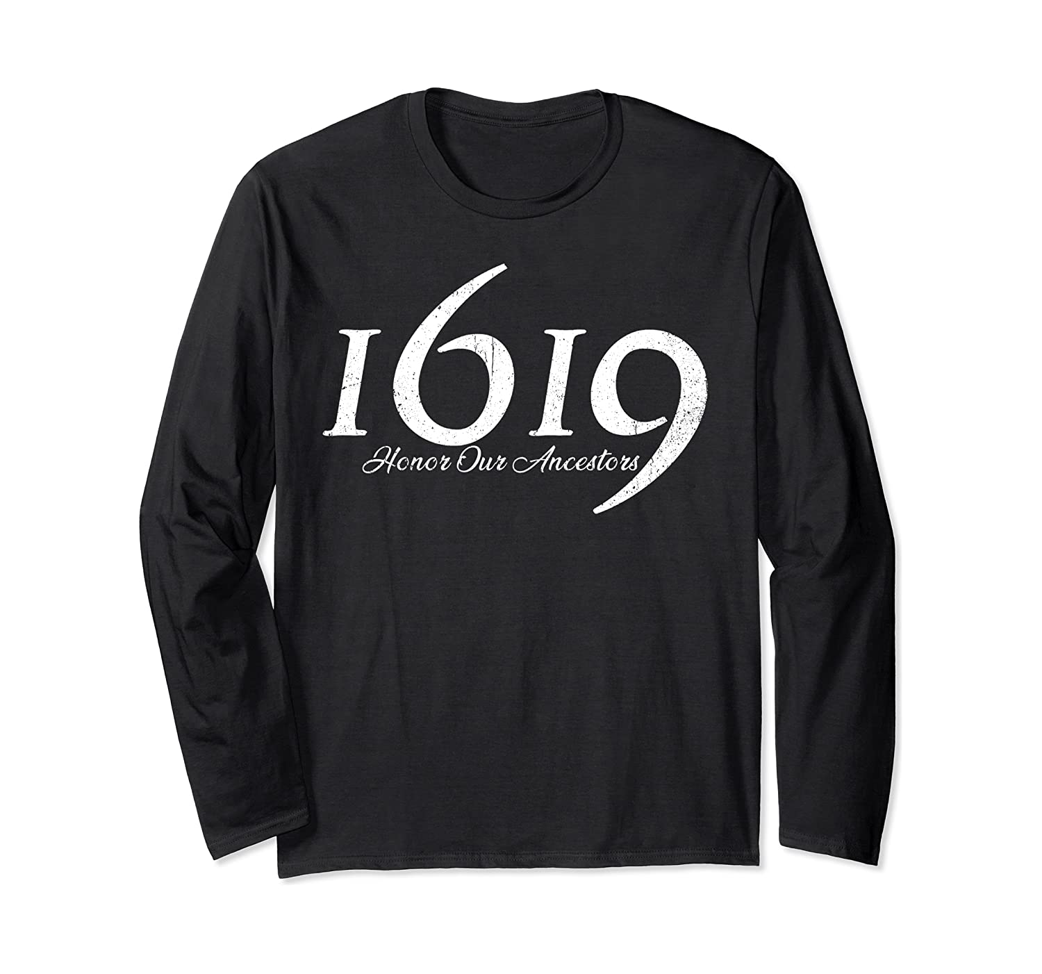 1619 Our Ancestors Project, Black History Month Kwanzaa Gift Long Sleeve T-Shirt