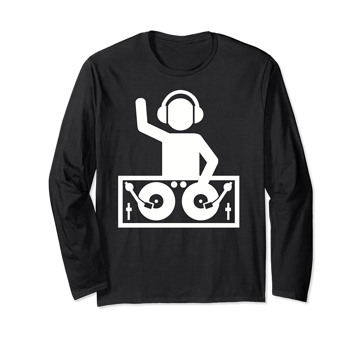 Dj With Turntables Long Sleeve T-shirt