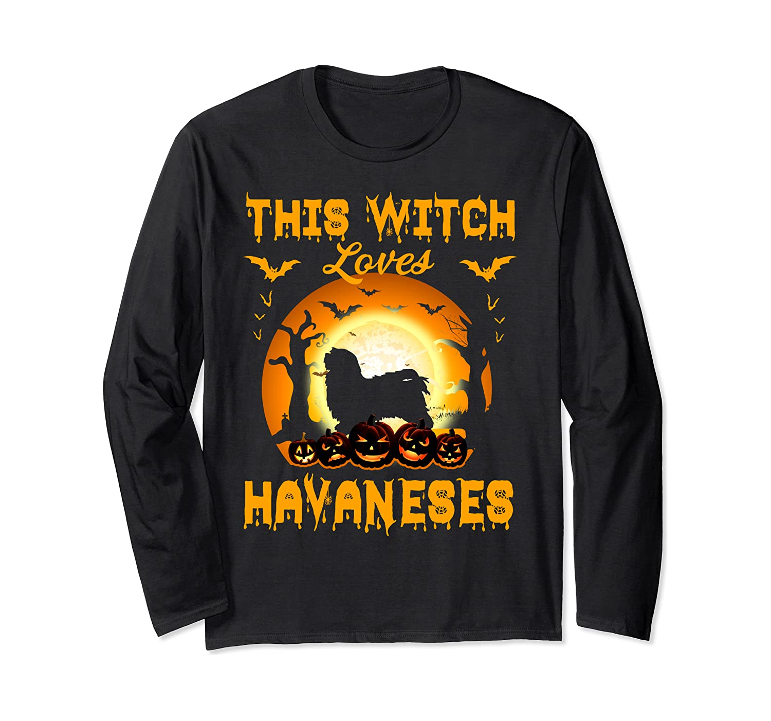 This Witch Loves Havaneses Halloween Cosplay Long Sleeve T-Shirt