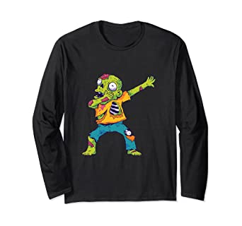 Amazon Com Dab Dance Zombie Halloween Costume Scary Monsters Gift Long Sleeve T Shirt Clothing