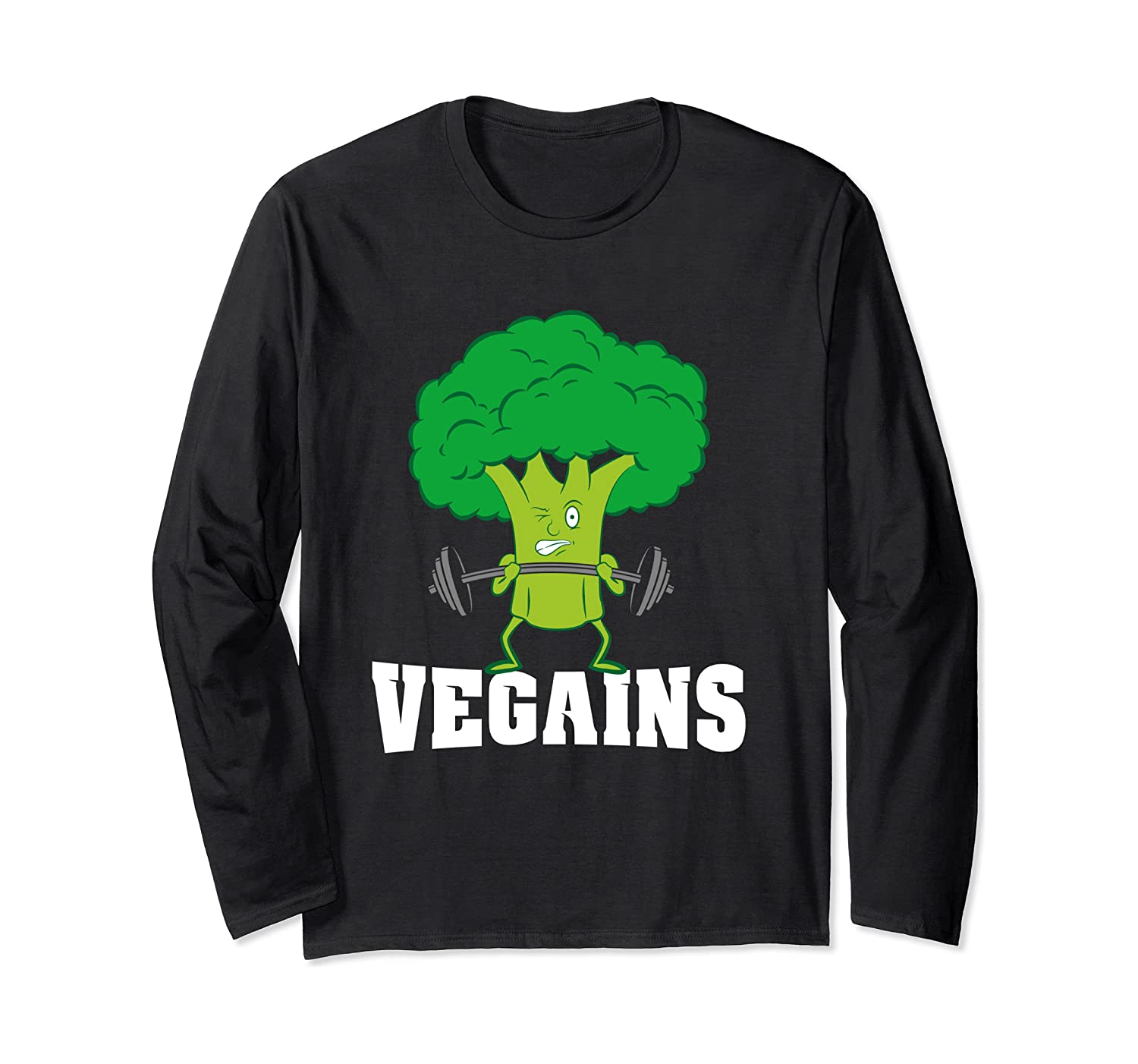 A Plant Powered Vegan Gym Workout – Funny Vegains Gift Long Sleeve T-shirt