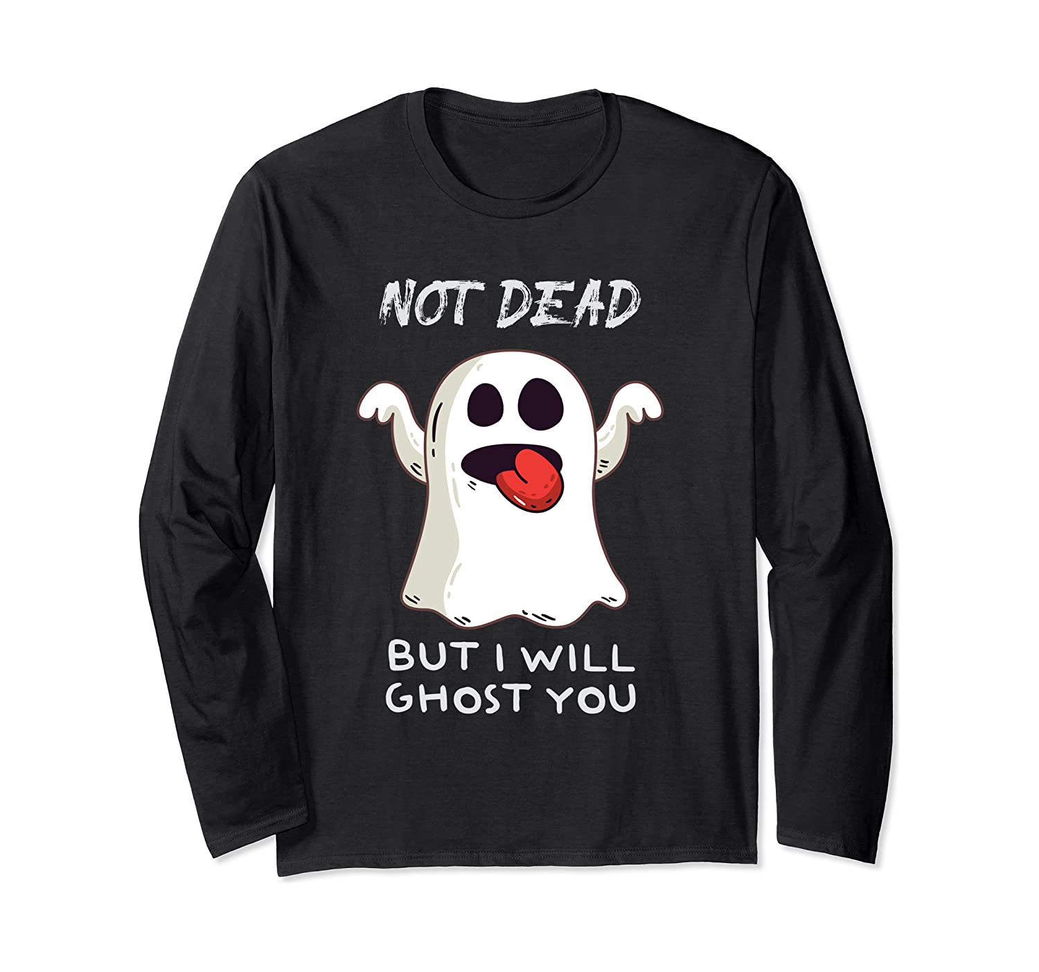 Halloween Ghost Spooky Trick or Treat Costume Gift Idea Long Sleeve T-Shirt