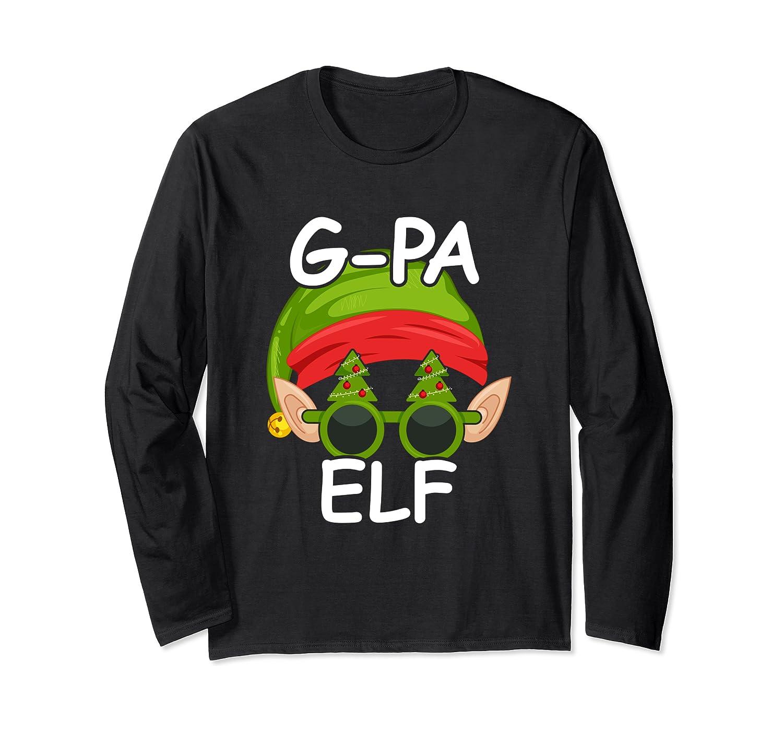 G-PA Grandpa Elf Matching Family Group Christmas Gift Long Sleeve T-Shirt