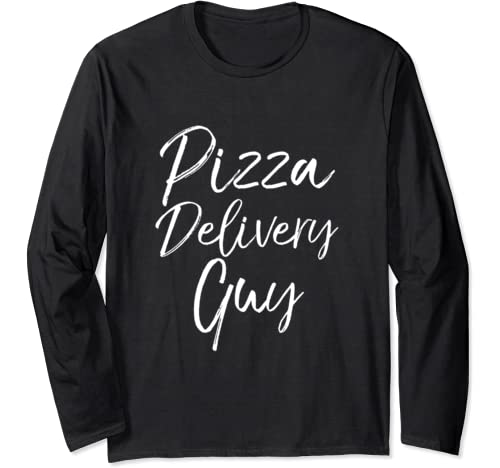 Easy Halloween Costume Cute Joke Funny Pizza Delivery Guy Long Sleeve T Shirt