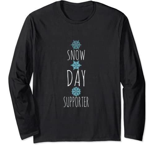 Snow Day Supporter Xmas Christmas Design Long Sleeve T Shirt