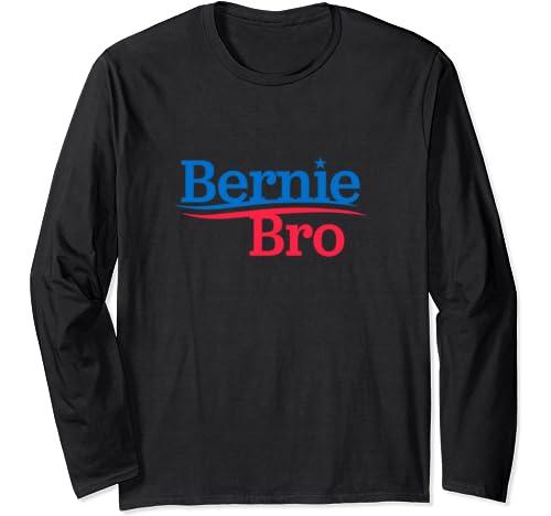 Bernie Bro   Bernie Sanders Patriotic Logo Not Me Us Rally Long Sleeve T Shirt