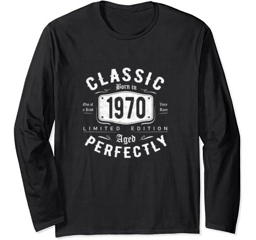 Vintage 1970 Classic 50th Birthday Gift For Men Women Long Sleeve T Shirt
