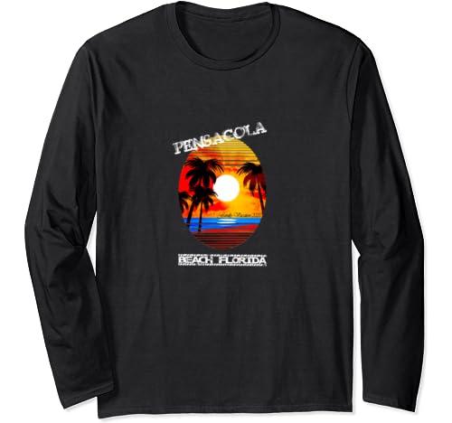 Pensacola Beach Florida Family Vacation 2020 Watercolor Gift Long Sleeve T Shirt