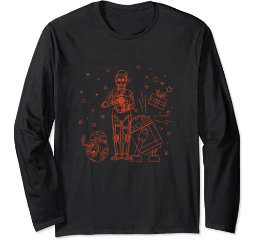 Star Wars Holiday C 3 Po R2 D2 Bb 8 Christmas Party Long Sleeve T Shirt