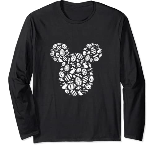 Disney Mickey Mouse Icon White Bunnies Easter Long Sleeve T Shirt