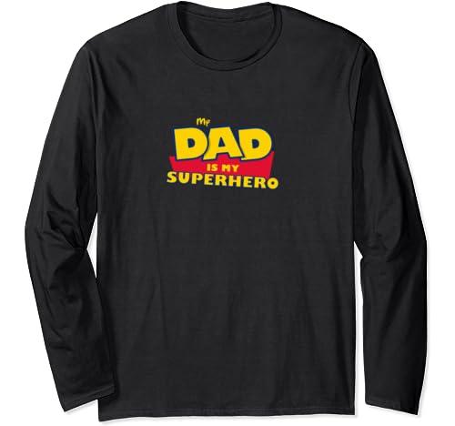 Super Dad Tee. My Dad Is My Superhero Toy Tee 4 Vintage Gift Long Sleeve T Shirt