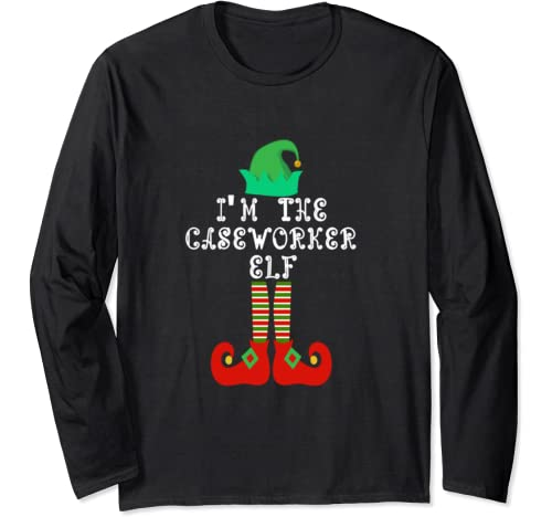 Matching Family Group Christmas I'm The Caseworker Elf Long Sleeve T Shirt