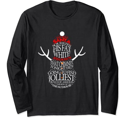 Xmas Gift Jolliest Bunch Of A Holes Long Sleeve T Shirt