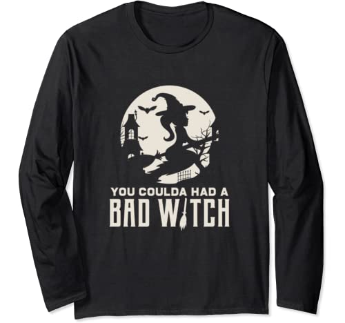 Love Halloween Bad Witch Fun Gift Design Idea Long Sleeve T Shirt