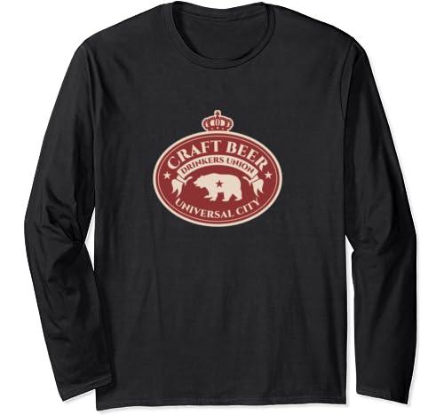 Craft Beer Drinkers Union   Universal City California Long Sleeve T Shirt