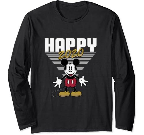 Disney Mickey Mouse Retro Happy 2020 Long Sleeve T Shirt
