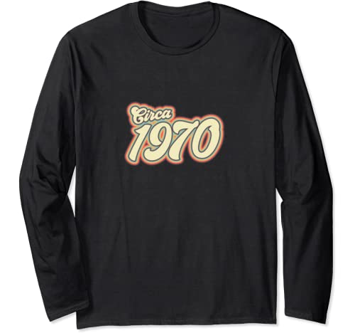 50th Birthday | Circa 1970 50th Birthday Gift For Men Women Long Sleeve T Shirt